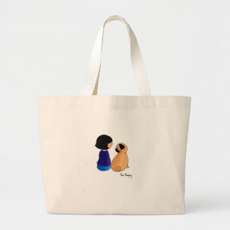 A Girl And Her Pug Tote Bags