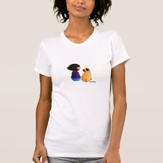 A Girl and Her Pug (brunette) T-Shirt