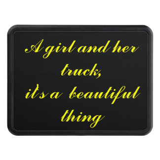 A Girl and Her Truck - Beautiful Trailer Hitch Cover