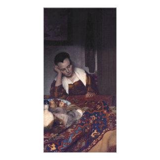 A Girl Asleep by Johannes Vermeer Card