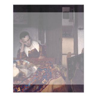 A Girl Asleep by Johannes Vermeer Flyer