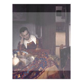 A Girl Asleep by Johannes Vermeer Flyers