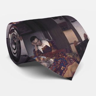 A Girl Asleep by Johannes Vermeer Neck Tie