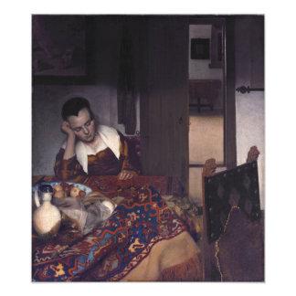 A Girl Asleep by Johannes Vermeer Photo Print