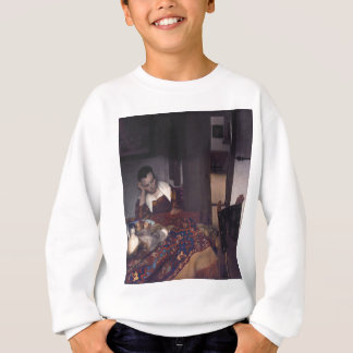 A Girl Asleep by Johannes Vermeer Sweatshirt
