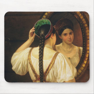 A girl at the mirror, 1848 mouse pad