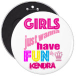 A Girl From PASADENA Logo 6 Inch Round Button