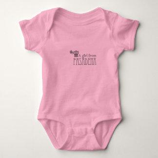 A Girl From PASADENA Logo Baby Bodysuit