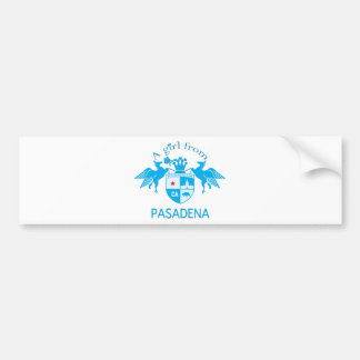 A Girl From PASADENA Logo Blue Emblem Bumper Stickers