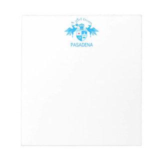 A Girl From PASADENA Logo Blue Emblem Note Pads