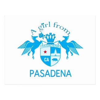 A Girl From PASADENA Logo Blue Emblem Post Cards