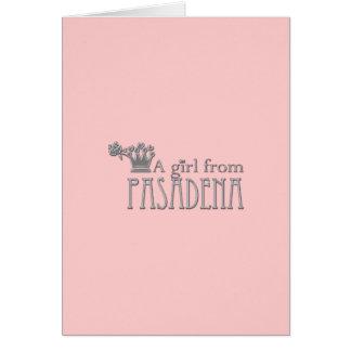 A Girl From PASADENA Logo Card