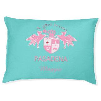A Girl From PASADENA Logo Large Dog Bed