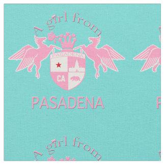 A Girl From PASADENA Logo Emblem Fabric