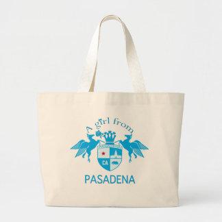 A Girl From PASADENA Logo Emblem Large Tote Bag