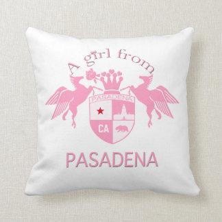 A Girl From PASADENA Logo Emblem Pillow