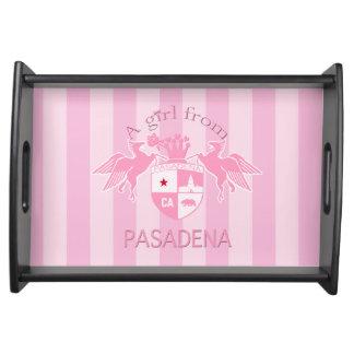A Girl From PASADENA Logo Emblem Serving Trays