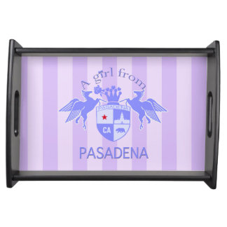 A Girl From PASADENA Logo Emblem Service Trays