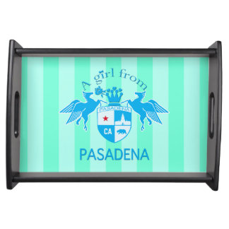 A Girl From PASADENA Logo Emblem Serving Platters