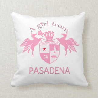 A Girl From PASADENA Logo Emblem Throw Pillow