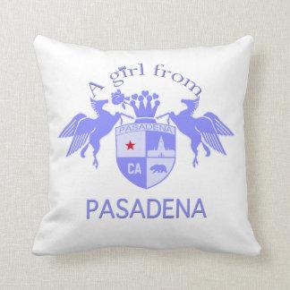 A Girl From PASADENA Logo Emblem Throw Pillows