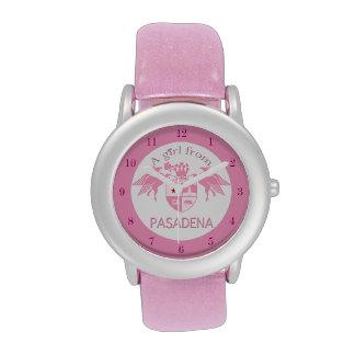 A Girl From PASADENA Logo Emblem Watches