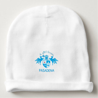 A Girl From PASADENA Logo Emblem Baby Beanie