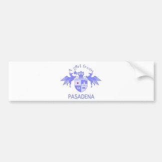 A Girl From PASADENA Logo Purple Emblem Bumper Sticker