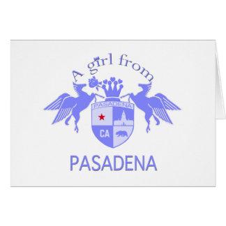 A Girl From PASADENA Logo Purple Emblem Card