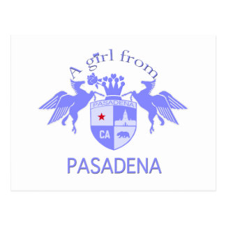 A Girl From PASADENA Logo Purple Emblem Postcard