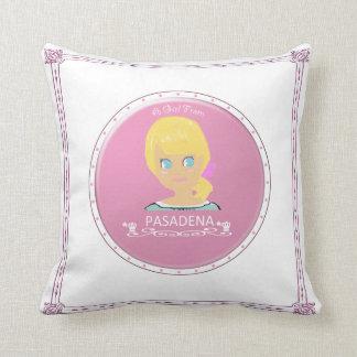 A Girl From PASADENA Logo Throw Pillows