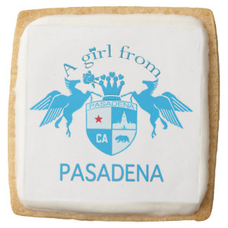 A Girl From PASADENA Logo with Pegasus Square Premium Shortbread Cookie