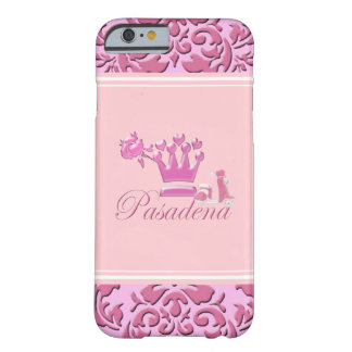 A Girl From PASADENA Logo with Pink Scooter Barely There iPhone 6 Case