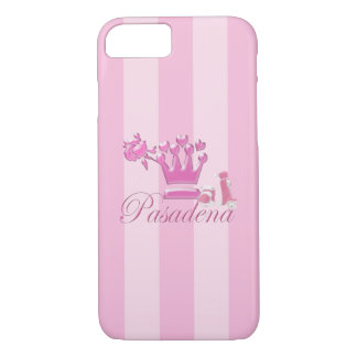 A Girl From PASADENA Logo with Pink Scooter iPhone 7 Case