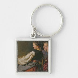 A Girl from Probsteier, 1844 Keychain