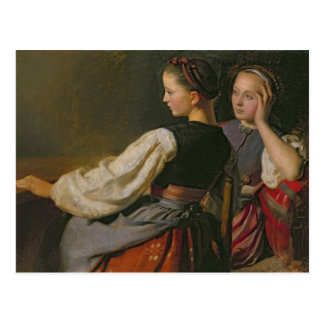 A Girl from Probsteier, 1844 Postcard