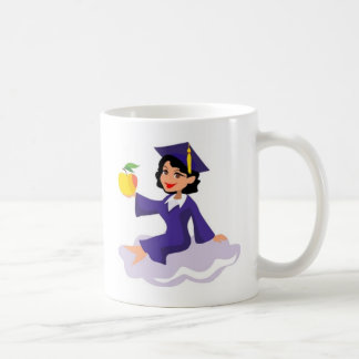 A Girl in Her Blue Cap and Gown Coffee Mug