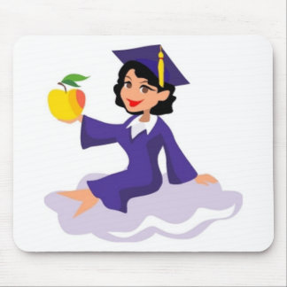 A Girl in Her Blue Cap and Gown Mouse Pad