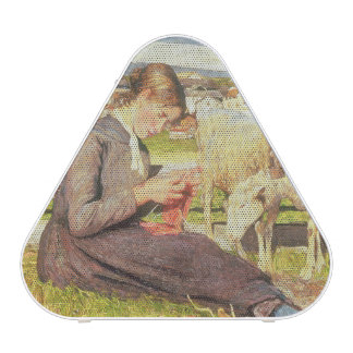 A Girl Knitting, 1888 (oil on canvas) Bluetooth Speaker