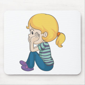 a girl mouse pad