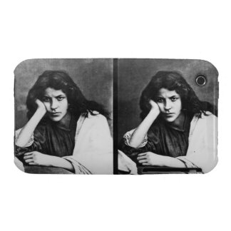 A Girl of Chioggia Dreaming of Her Loves (b/w phot iPhone 3 Cover