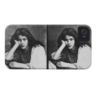 A Girl of Chioggia Dreaming of Her Loves (b/w phot iPhone 4 Case