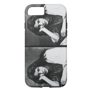 A Girl of Chioggia Dreaming of Her Loves (b/w phot iPhone 7 Case