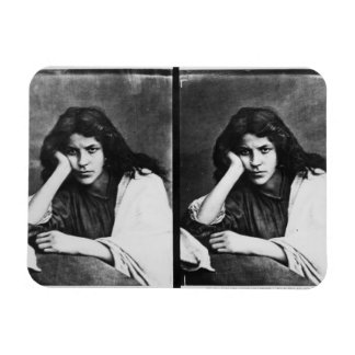 A Girl of Chioggia Dreaming of Her Loves (b/w phot Rectangular Photo Magnet