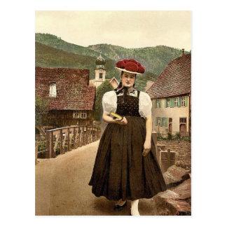 A Girl of the Black Forest, Black Forest, Baden, G Postcard