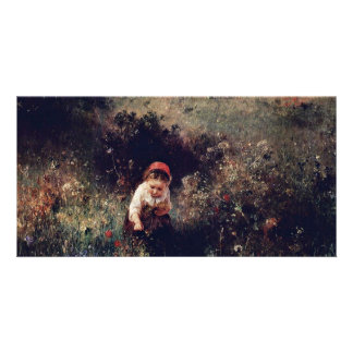 A Girl On The Field By Knaus Ludwig Best Quality Photo Card