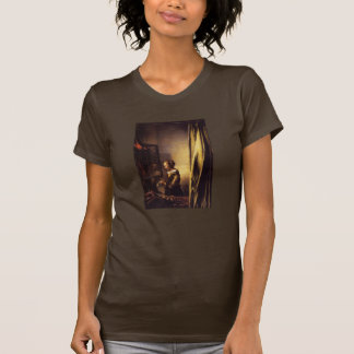 A Girl Reading a Letter at an Open Window Tshirts