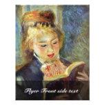A Girl Reading By Pierre-Auguste Renoir Custom Flyer
