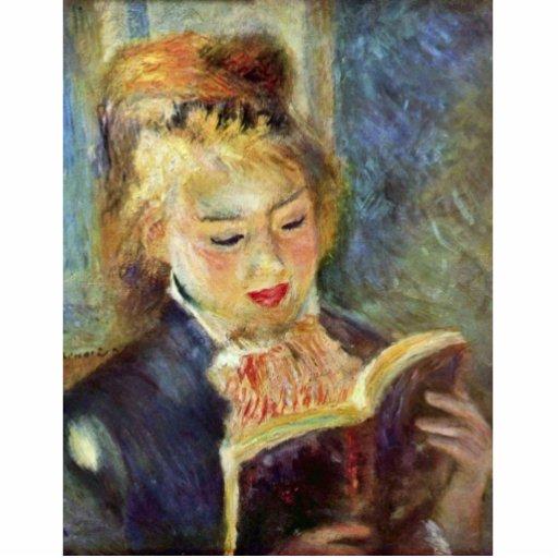 A Girl Reading By Pierre-Auguste Renoir Photo Cutout