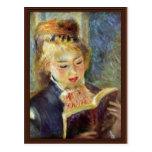 A Girl Reading By Pierre-Auguste Renoir Postcard